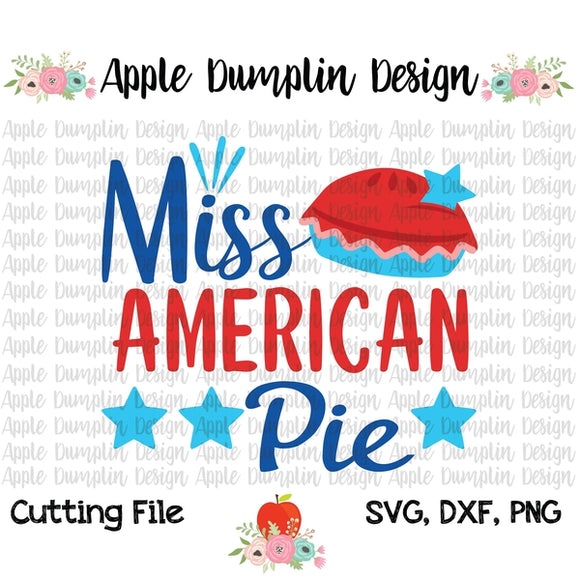 Miss American Pie SVG - embroidery-boutique