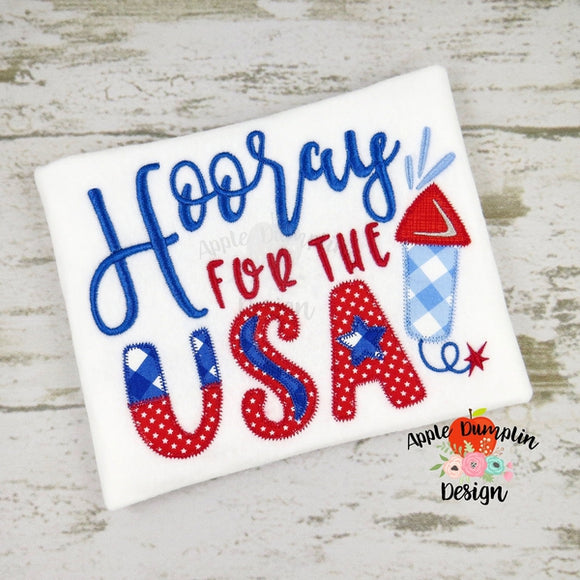Hooray for the USA Embroidery Design - embroidery-boutique