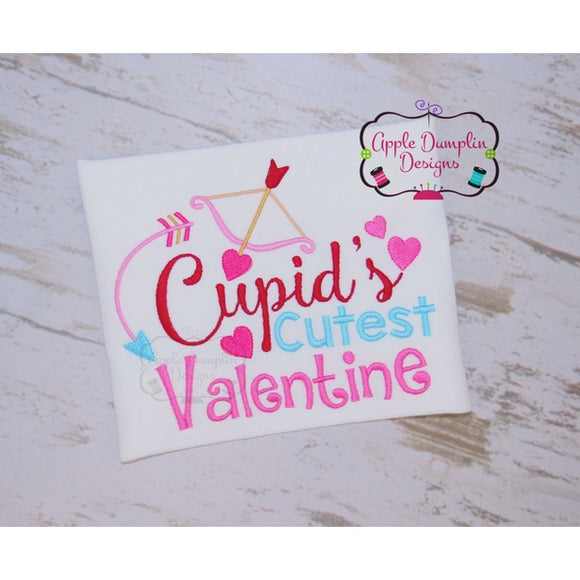 Cupid's Cutest Valentine Embroidery Design - embroidery-boutique