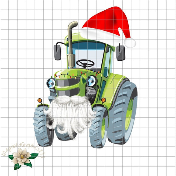 Christmas Tractor PNG Printable - embroidery-boutique