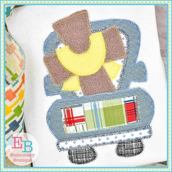 Truck Cross Sash Zigzag Applique