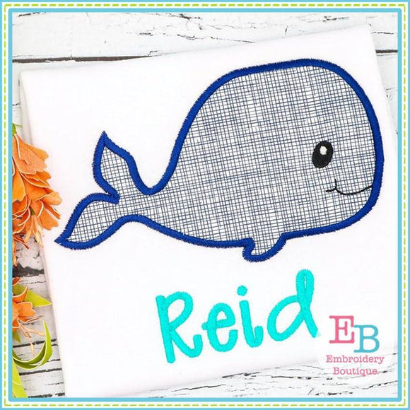Whale 2 Applique - embroidery-boutique