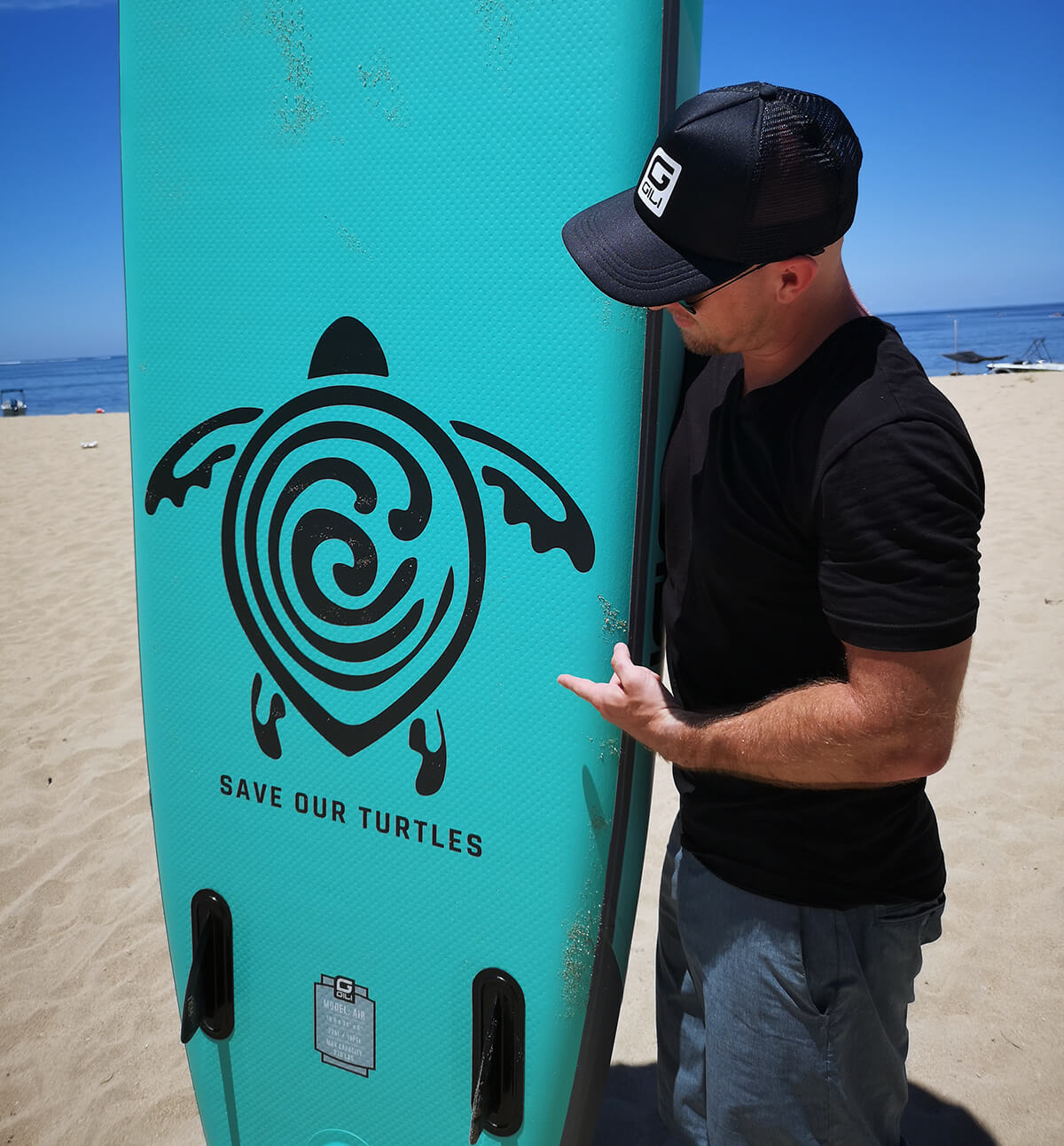 GILI Air Inflatable Paddle Board - Save Our Turtles