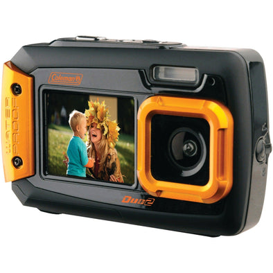 20.0-Megapixel Duo2 Dual-Screen Waterproof Digital Camera (Orange)