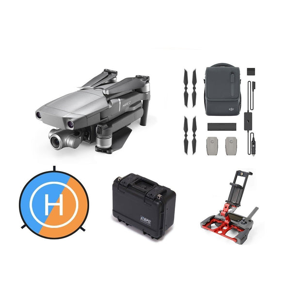 DJI Mavic 2 Zoom Bundle - Fly More Kit, Tablet Holder, GPC Case & More