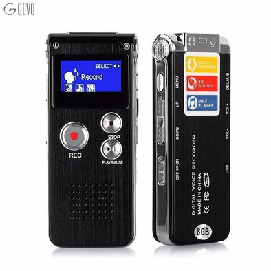 High quality Voice Recordering  Pen LED Usb Digital Clean Sound Micro Audio Recorder 8GB Portable Dictaphone Mp3 Player Recorder