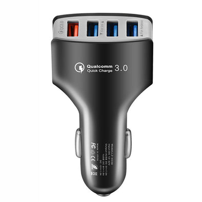 QC3.0 Quick Charger USB Car Charger 4 Port Adaptive Fast Charger Phone Adapter