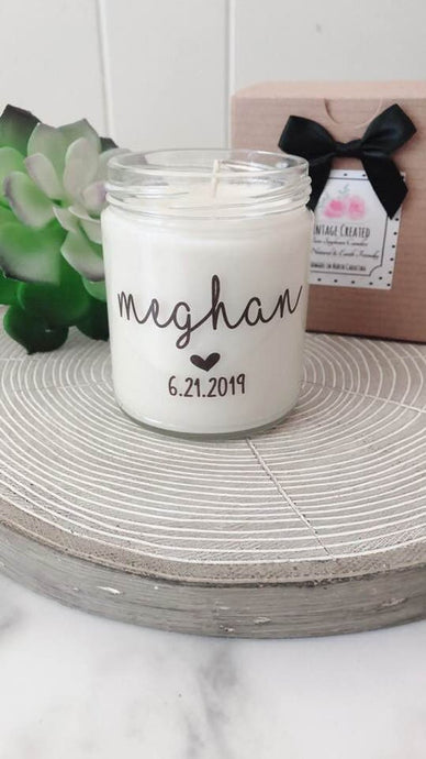 Set of 6 Bridesmaid Name Candles~Personalized Bridesmaid Gifts~Name Candles ~Personalized Maid of Honor~Bridesmaid Proposal Boxes~Matron of Honor