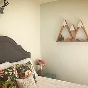 LARGE Mountain Shelf, 3 Sisters Oregon, Room Decor, Snow Peak, Woodland, Accent Wall, Mountain, Forest, Reclaimed Wood, Triangle, Geometric