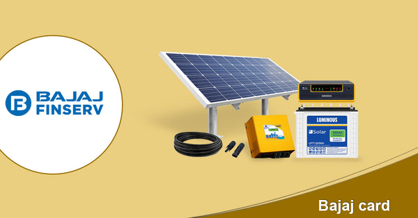 emi options for solar power system without credit card