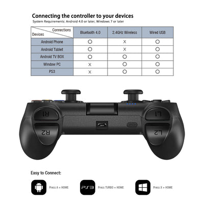 GameSir T1s Bluetooth Wireless Controller for Android/VR/Windows/Playstation