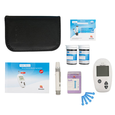 Safe-Accu - Blood Glucose Monitoring System With Test Stripes And Sterile Lancets