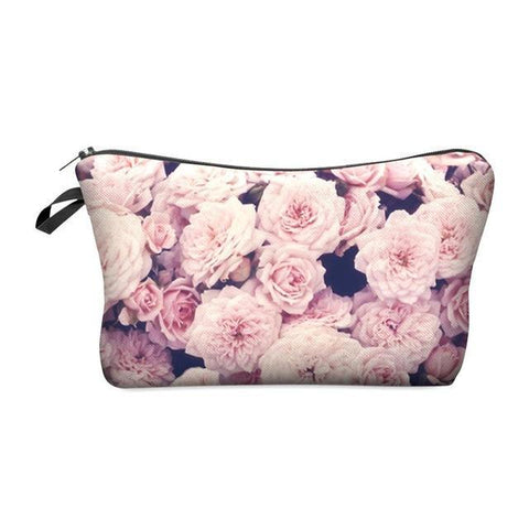 Travel Makeup Bag - Cosmetic Case - Vintage Roses