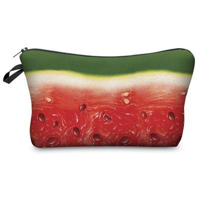 Travel Makeup Bag - Cosmetic Case - Watermelon