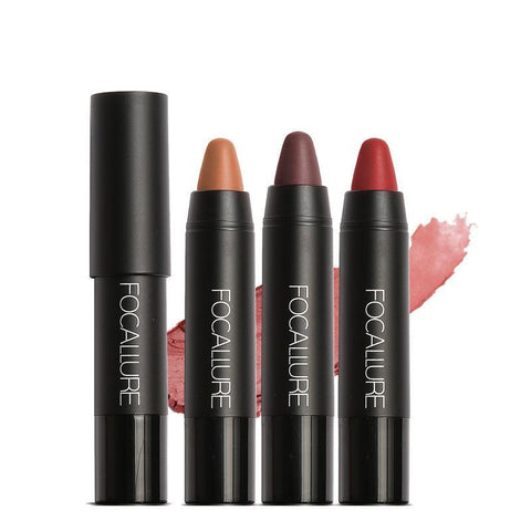 Lips - FOCALLURE Lipstick - Long Lasting Waterproof Nude & Matte Lipstick