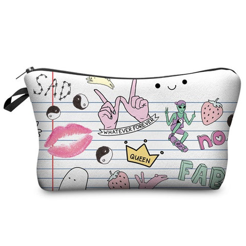 Travel Makeup Bag - Cosmetic Case - Whatever
