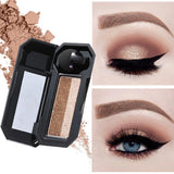 Double Color Shimmer Eyeshadow - One Step Eyeshadow - Waterproof Glitter Eyeshadow