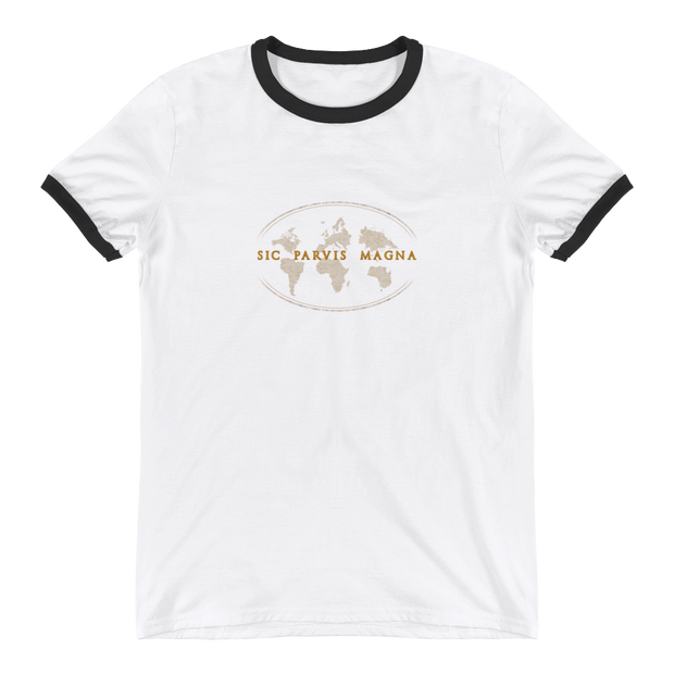 Sic Parvis Magna - Ringer T-Shirt - GiO (1998) Online Clothes Shop