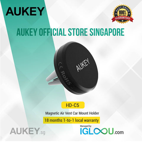 Aukey [HD-C5] Magnetic Air Vent Car Mount Holder