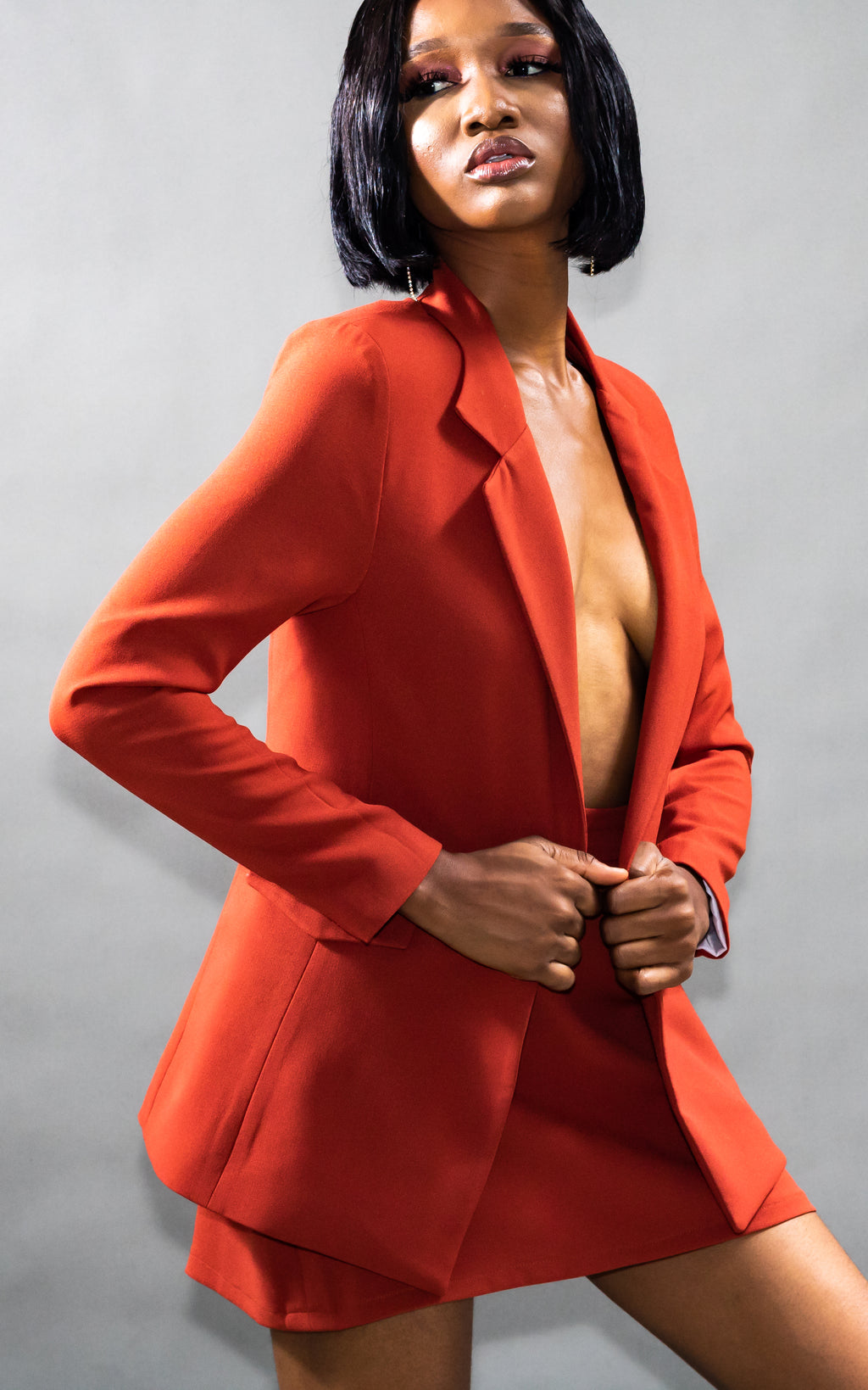 The Robin Co-ord Set Blazer (Orange)