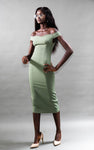 The Elaine Dress (Olive green)