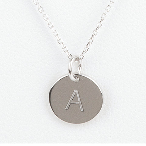 Mini Initials Charm Necklace - Letter A