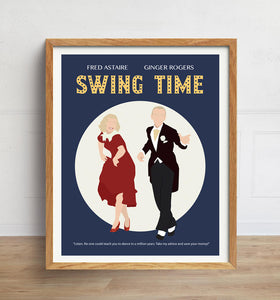 Swing Time Poster, Fred Astaire and Ginger Rogers