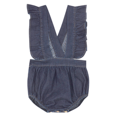Yellowpelota Folk Romper - Original Denim