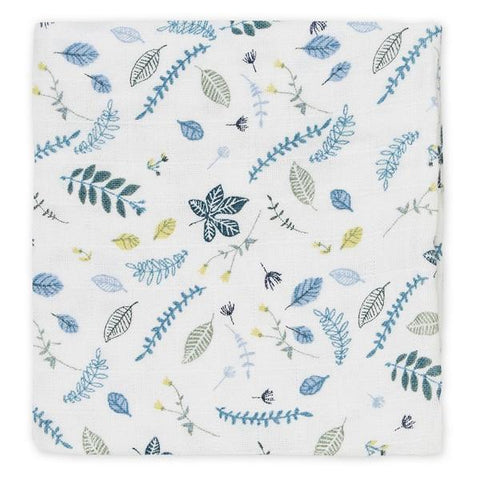 Cam Cam Copenhagen Muslin Cloth - Pressed Leaves Blue