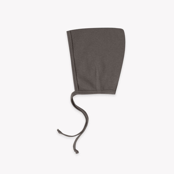 Quincy Mae Ribbed Pixie Bonnet - Coal