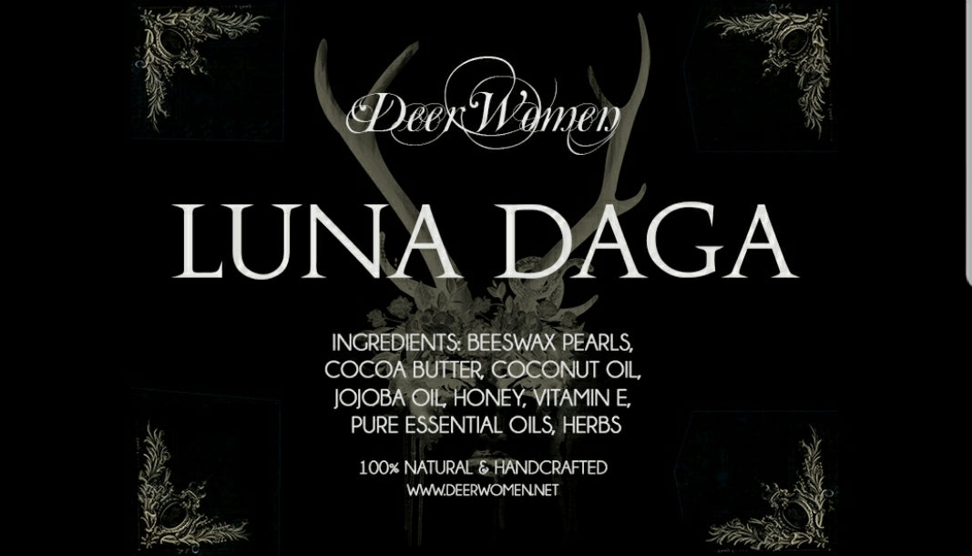 LUNA DAGA - an enchanting darkly hued lip balm in blackest violet