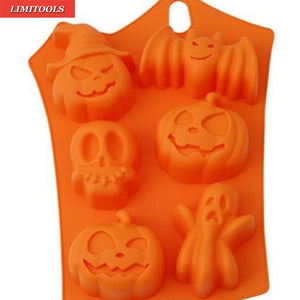 6 Cavity Halloween Silicone Ice Cube Mold