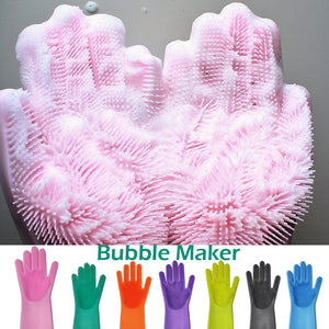 Magic Silicone Rubber Dish Washing Gloves