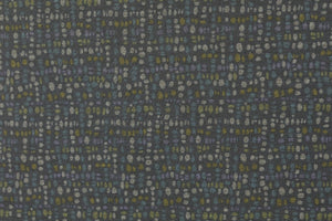 REMNANT 0.82 meter Green Pebbles Ponte Roma Knit Fabric