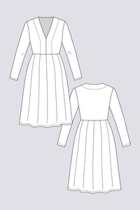 Named Clothing - TUULI V-Neck Jersey Dress & Bodysuit Sewing Pattern
