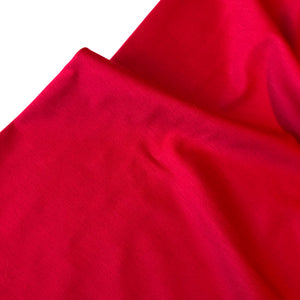 Raspberry Red Viscose Ponte Roma double Knit Fabric