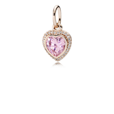 PANDORA Rose Pendant Sparkling Love with Pink & Clear Cubic Zirconia