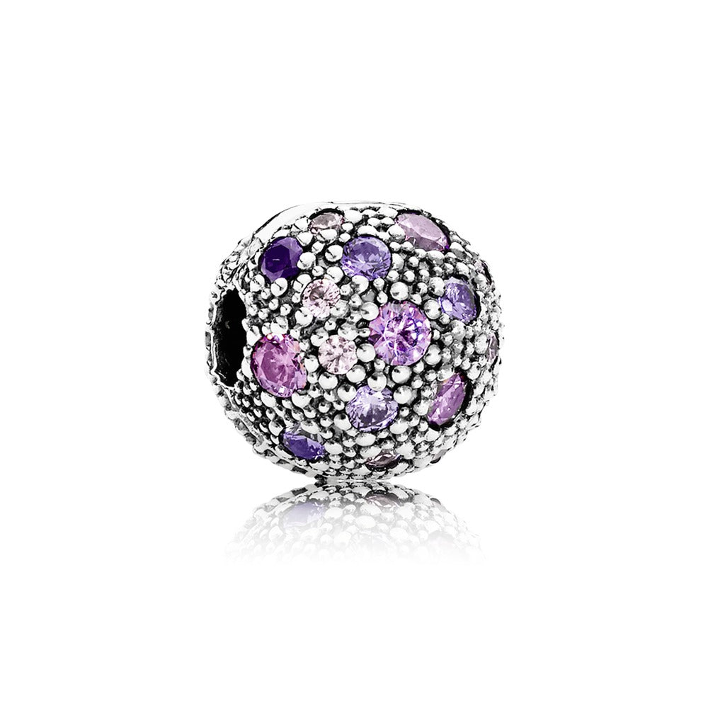 Cosmic stars fancy purple cubic zirconia