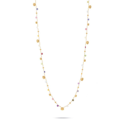 A Mixed gemstone necklace from the paradise collection by marco bicego Santa Fe Jewelry.