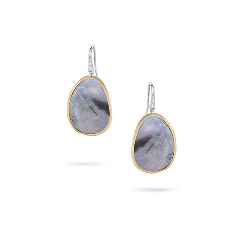 A pair of small mother of pearl drop earrings by marco bicego Santa Fe Jewelry