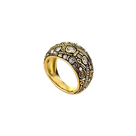 Alex Sepkus Handmade 18K Diamond Ring