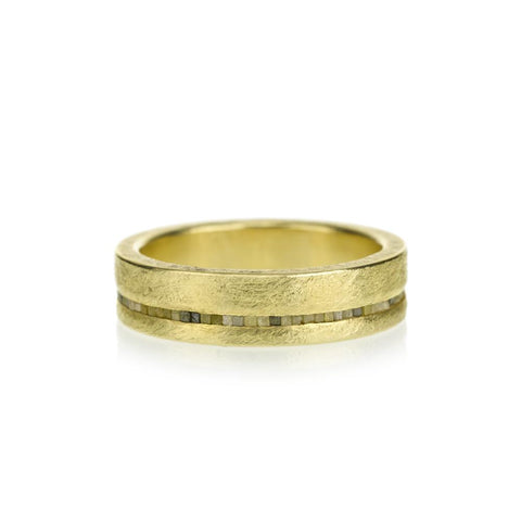 Todd Reed 18K Wide-Band Yellow Diamond Ring