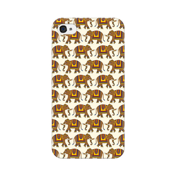 Enchanting India Elephant Artwork Apple iPhone 4 Mobile cover-Frequncy