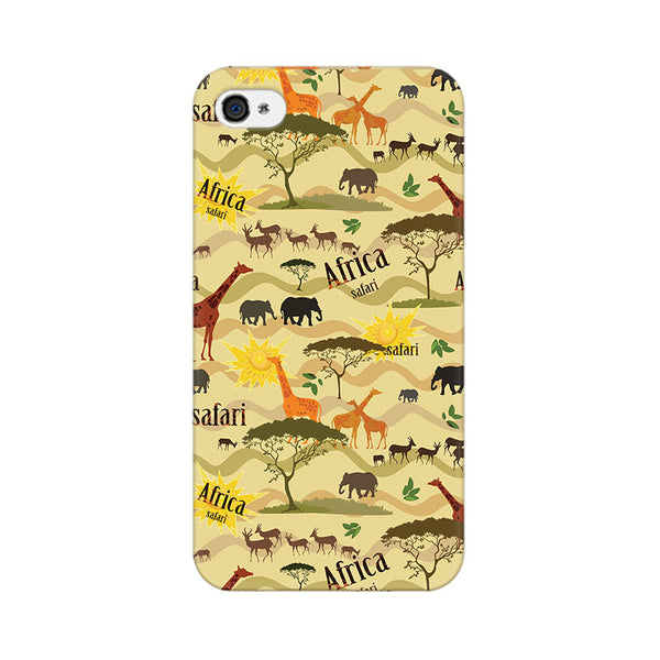 African Safari Apple iPhone 4 Mobile cover-Frequncy