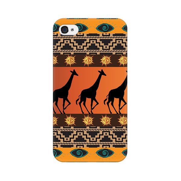 Tribal Giraffe Apple iPhone 4 Mobile cover-Frequncy