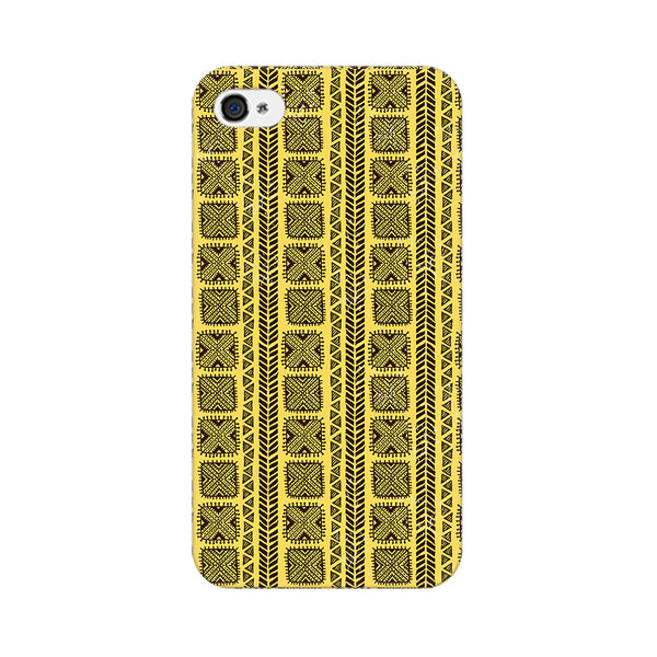 Tribal Vintage Ethnic Pattern Apple iPhone 4 Mobile cover-Frequncy