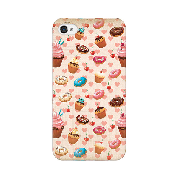 Heart And Cakes Apple iPhone 4 Mobile cover-Frequncy