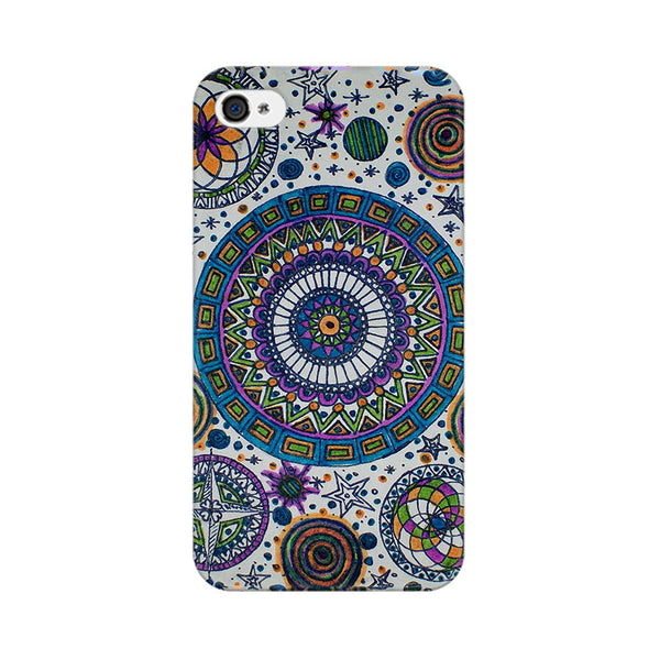 Abstract Colorful Apple iPhone 4 Mobile cover-Frequncy