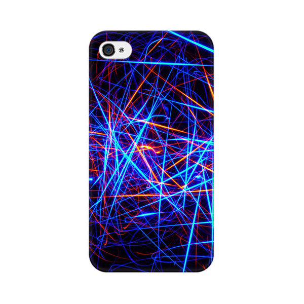 Abstract Ultra Apple iPhone 4 Mobile cover-Frequncy