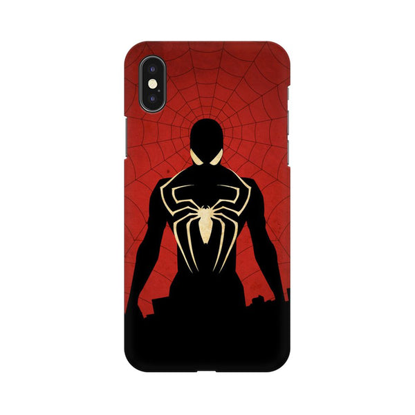 Spiderman In Black Apple iPhone X Mobile cover-Frequncy